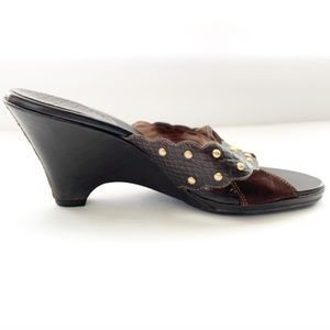 Cole Haan Leather & Suede Studded Slip On